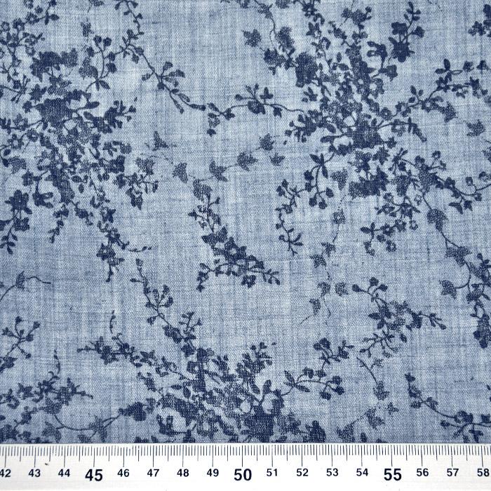 Tkanina, tanjša, cvetlični, 22521-42, modra