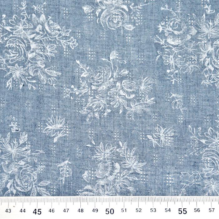 Tkanina, tanjša, cvetlični, 22521-45, modra