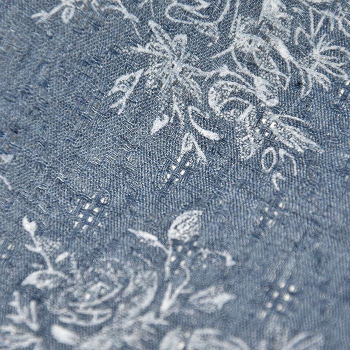 Tkanina, tanjša, cvetlični, 22521-46, modra
