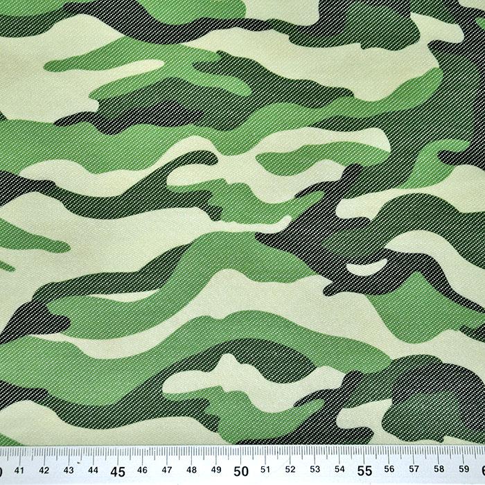 Pletivo, jeans, kamuflažni, 22521-55, zelena