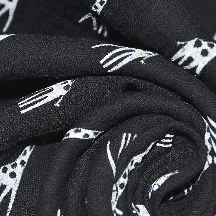 Tetra tkanina, dvojna, otroški, 21857-069, črna