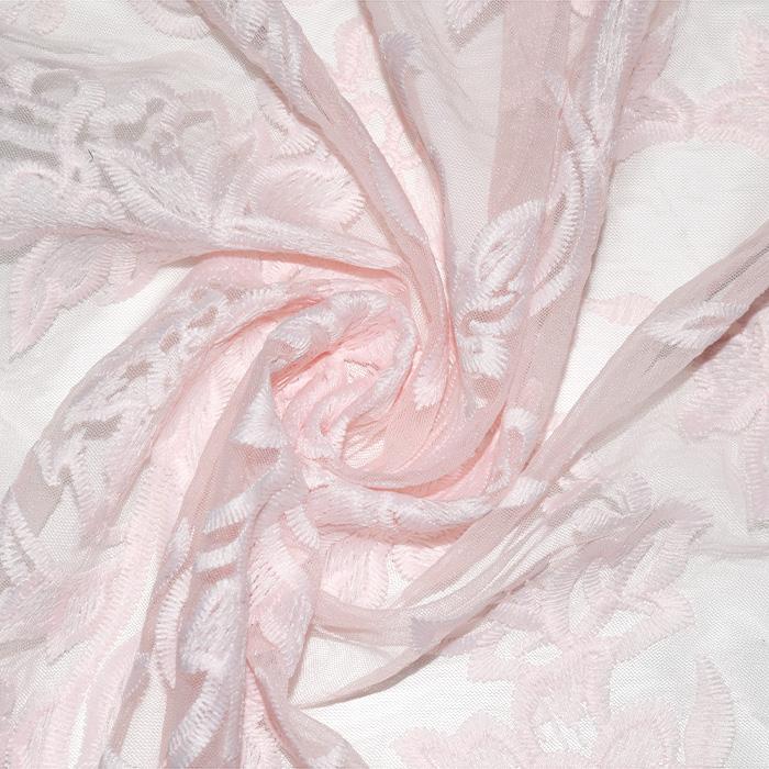 Čipka, prožna, cvetlični, 22940-011, roza