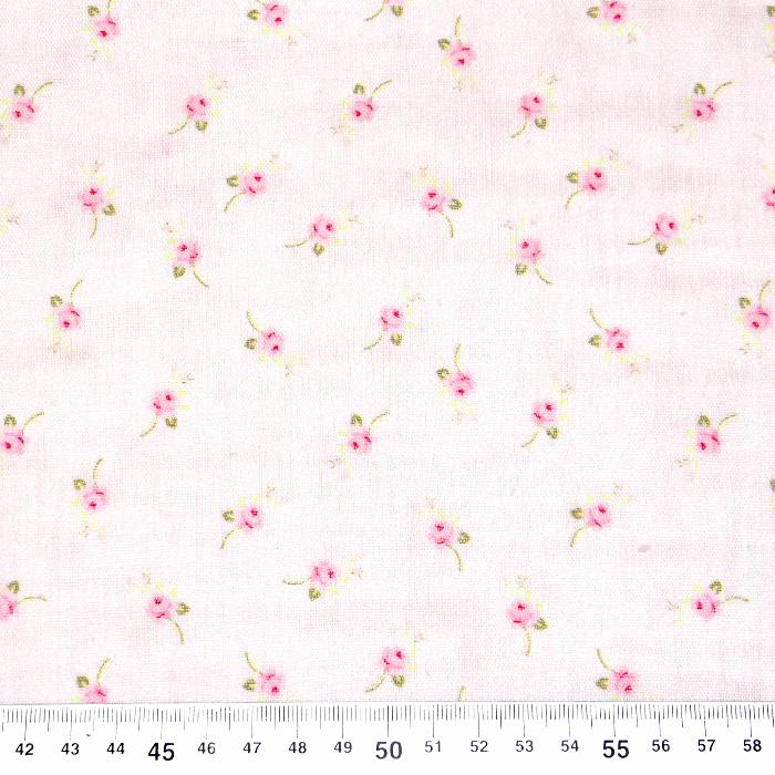 Tetra tkanina, dvostruka, cvjetni, 22943-21, svjetloružičasta