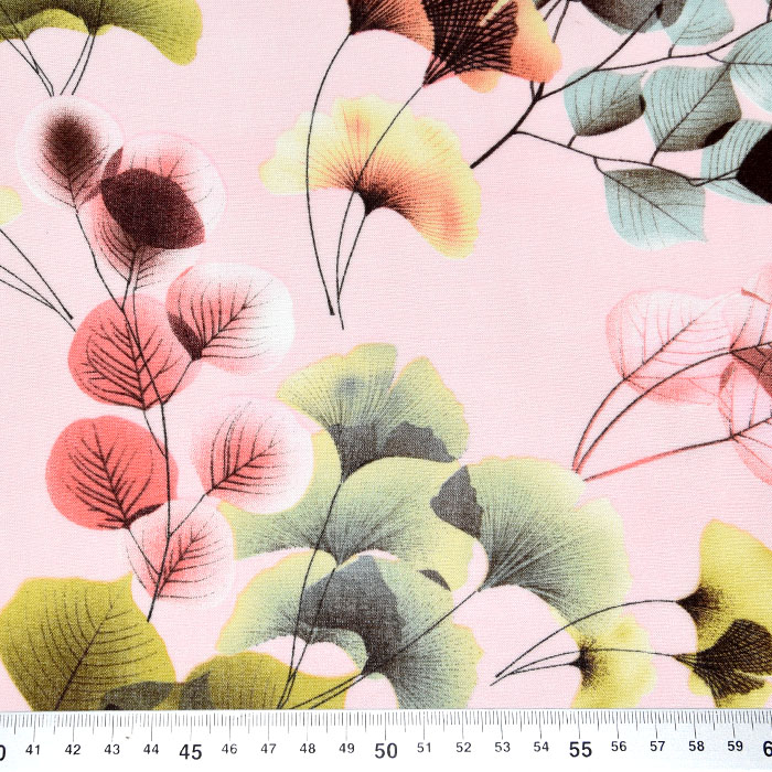 Tkanina, viskoza, narava, 22958-0802, svetlo roza