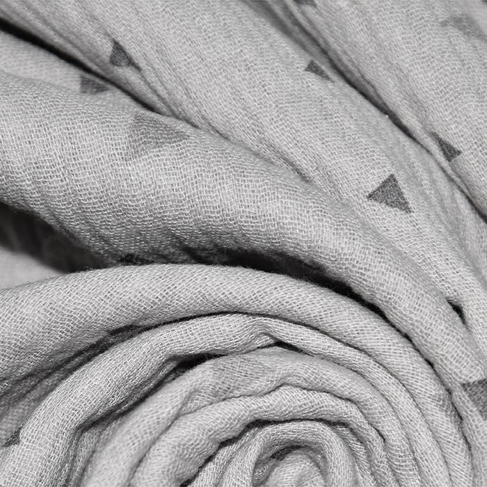 Tetra tkanina, dvostruka, geometrijski, 22963-061, siva