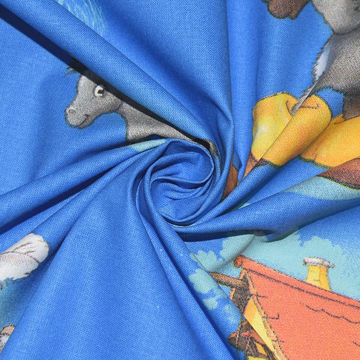 Bombaž, poplin, otroški, 23030-01, modra