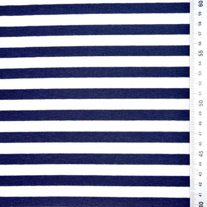 Jersey, viskoza, črte, 22892-21, modra