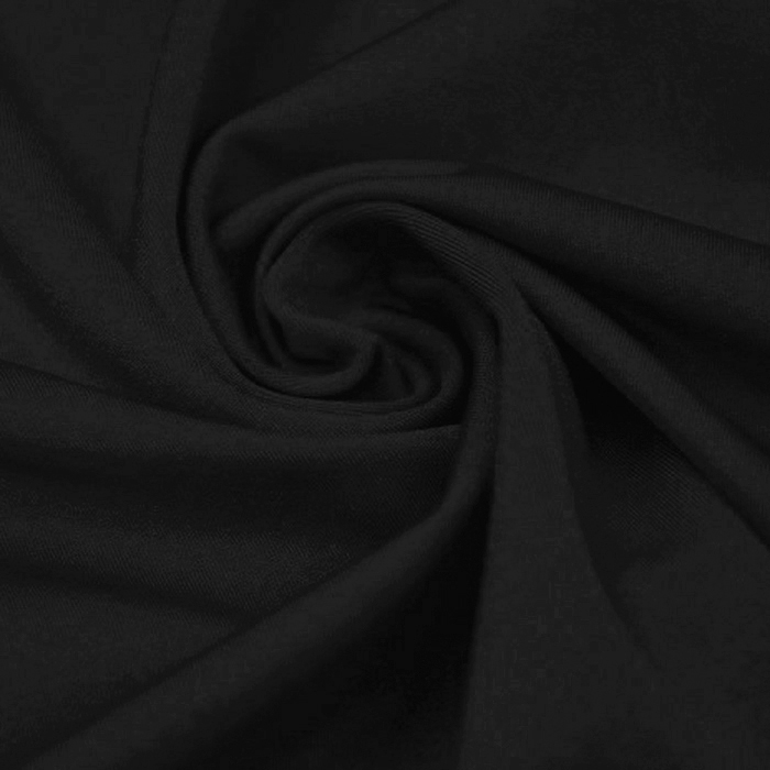 Poliamid, elastan, svetleča, 23067-12, črna