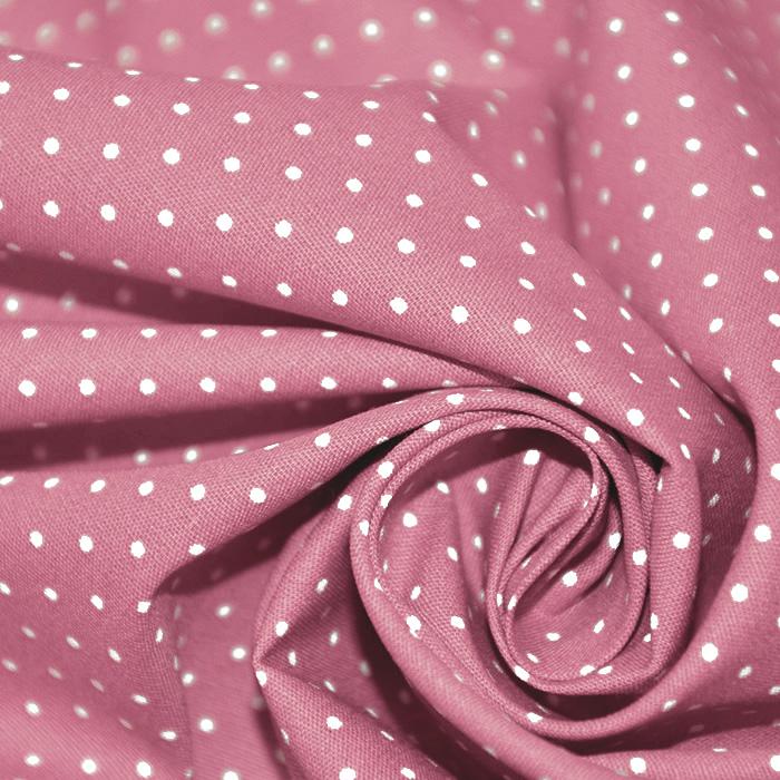 Bombaž, poplin, pikice, 17950-031, roza