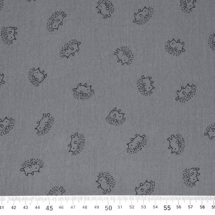 Tetra tkanina, dvojna, živalski, 23243-068, siva
