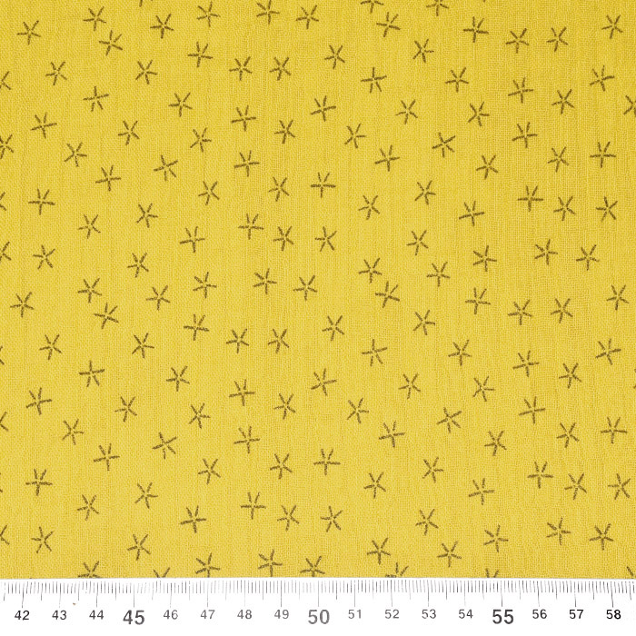 Tetra tkanina, trojna, geometrijski, 23244-185, rumena