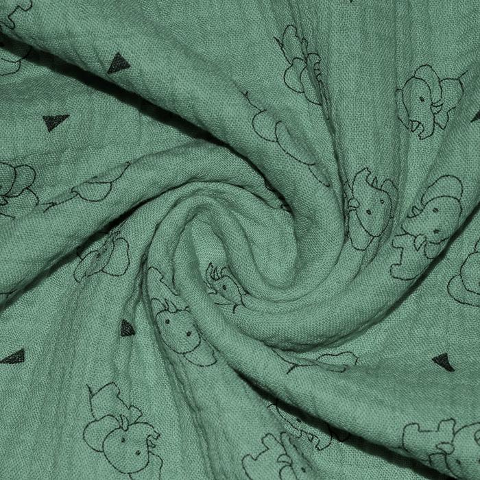 Tetra tkanina, trojna, živalski, 23244-223, mintzelena