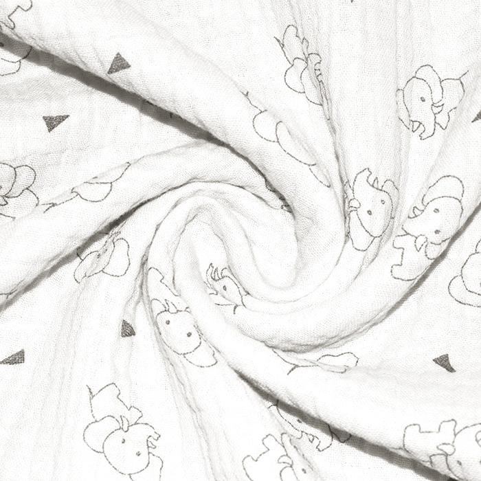 Tetra tkanina, trojna, živalski, 23244-251, smetana