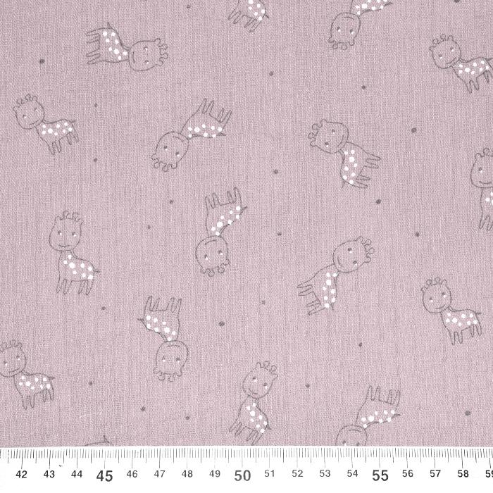 Tetra tkanina, trojna, živalski, 23244-313, roza