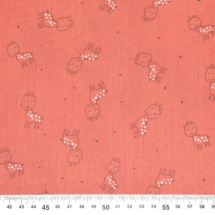 Tetra tkanina, trojna, živalski, 23244-314, oranžnoroza