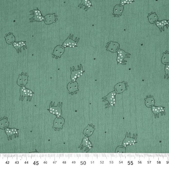 Tetra tkanina, trojna, živalski, 23244-323, mintzelena