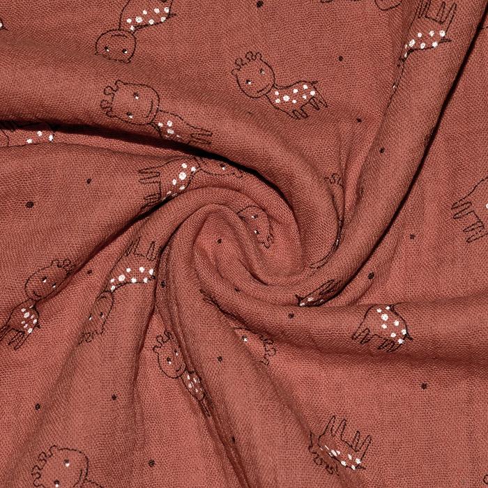 Tetra tkanina, trojna, živalski, 23244-337, opečna