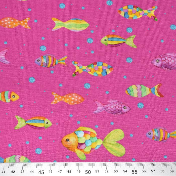 Jersey, bombaž, digital, živalski, 22672-21, roza