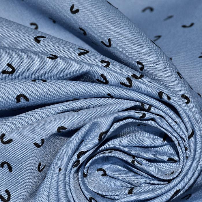 Bombaž, poplin, tisk, 23276-09, modra