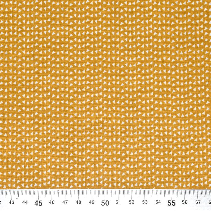 Bombaž, poplin, geometrijski, 23288-08, oker