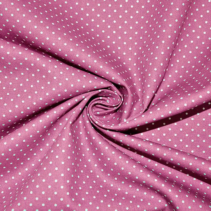 Bombaž, poplin, pikice, 17950-028, roza