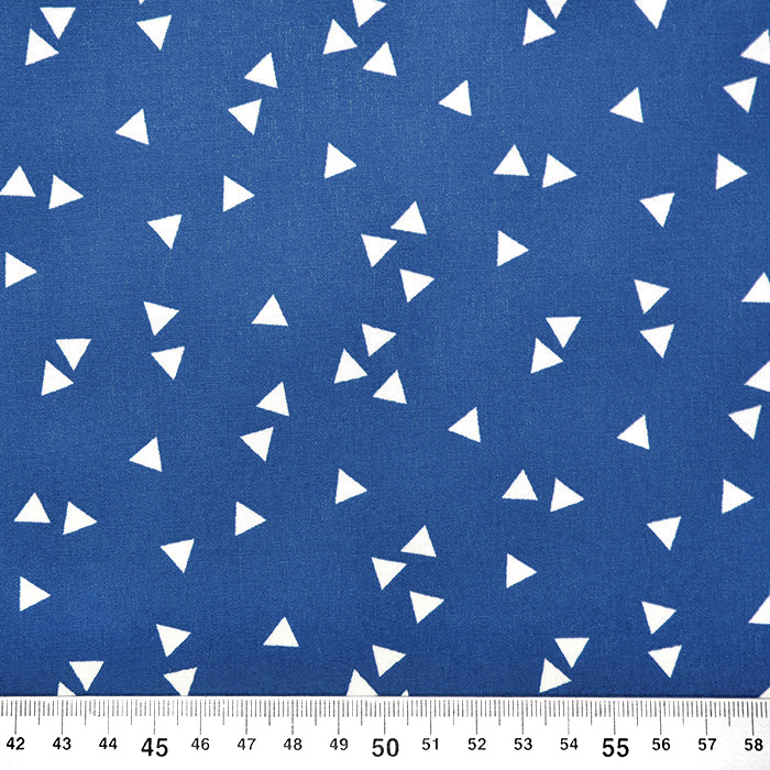 Bombaž, poplin, geometrijski, 17948-025, modra