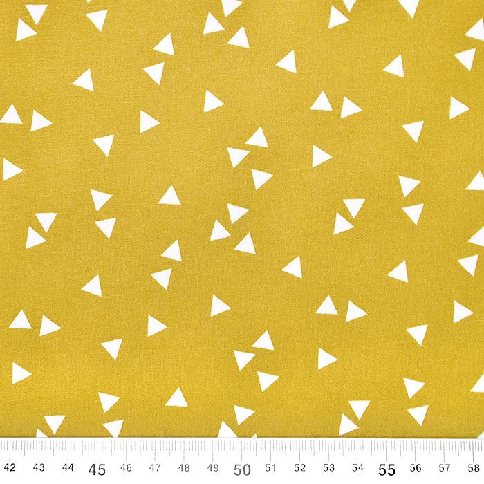 Bombaž, poplin, geometrijski, 17948-026, oker