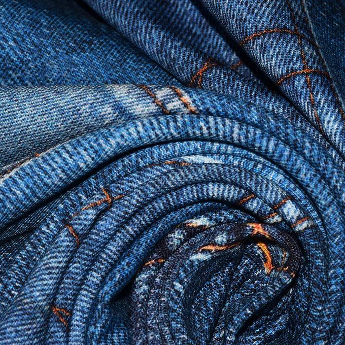 Jersey, bombaž, digital, jeans, 23330-007