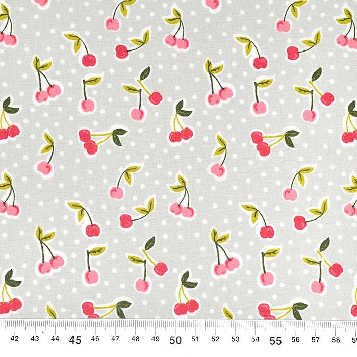 Bombaž, poplin, sadje, 22797-002, sivozelena