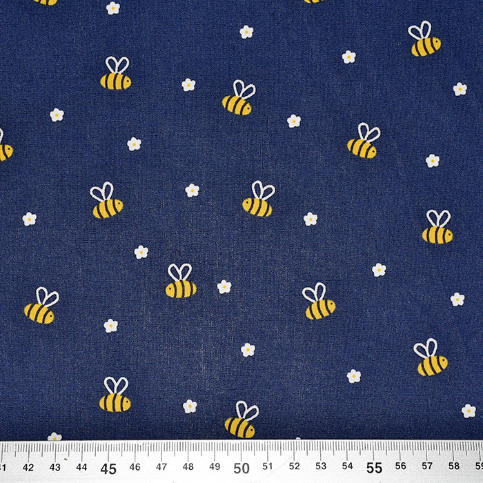 Pamuk, popelin, životinjski, 23364-002, plava