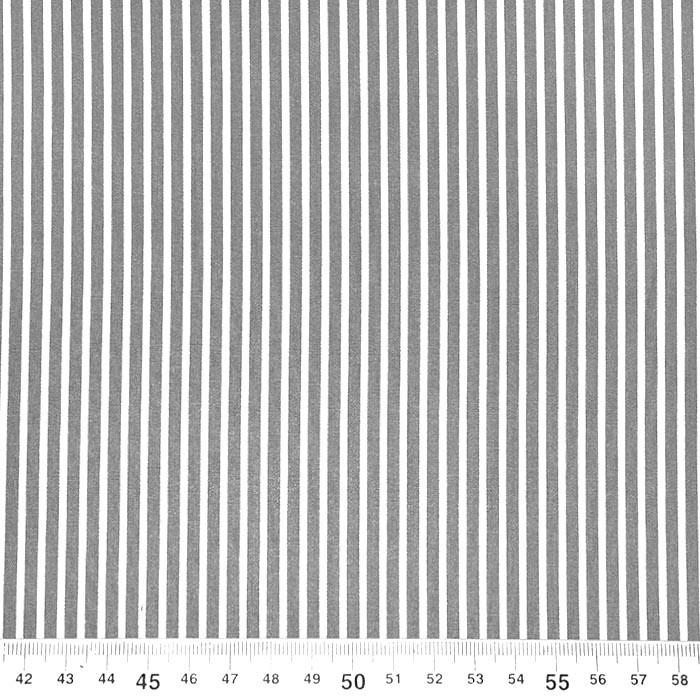 Bombaž, poplin, črte, 23367-013, siva