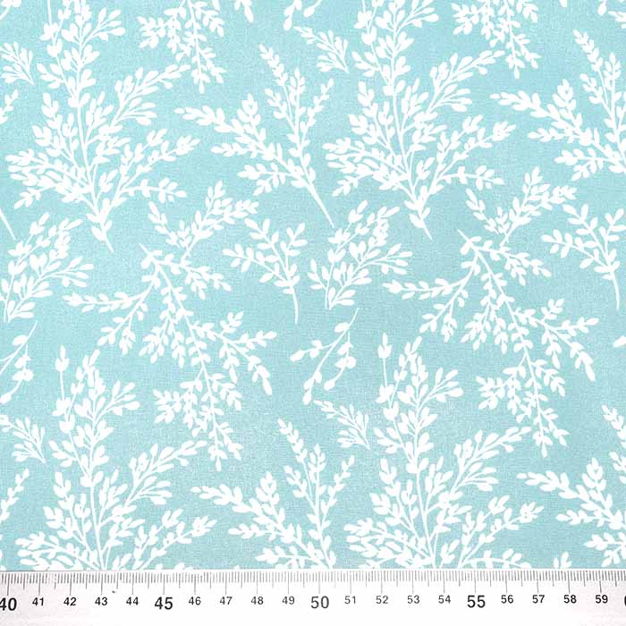 Baumwolle, Popeline, Natur, 23391-3, türkisblau