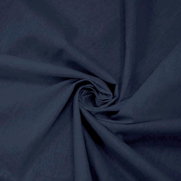 Bombaž, poplin, 4828-69, temno modra