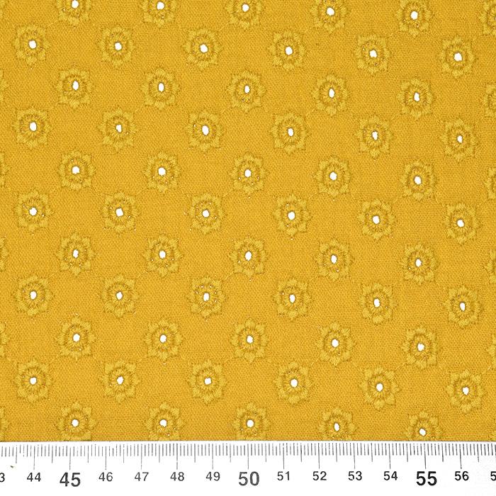 Tetra tkanina, dvojna, rišelje, pike, 23413-011, oker