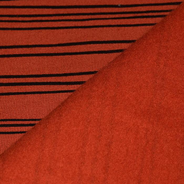 Prevešanka, kosmatena, črte, 23419-003, opečna