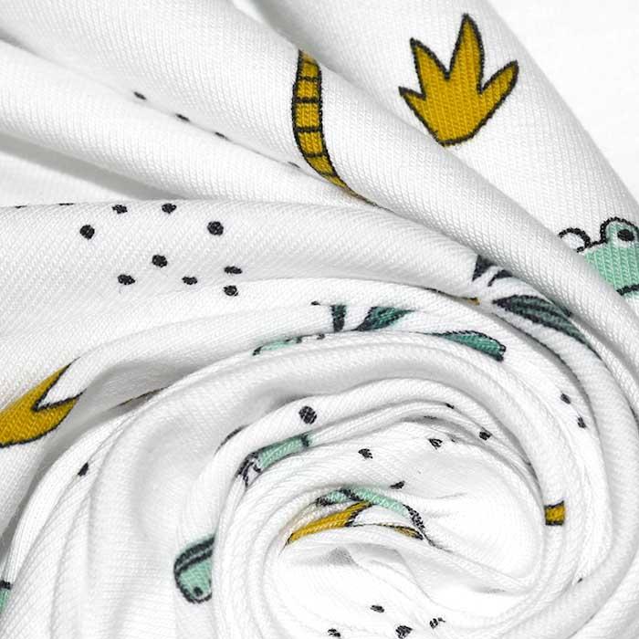 Jersey, pamuk, životinjski, 23428-001, bijela