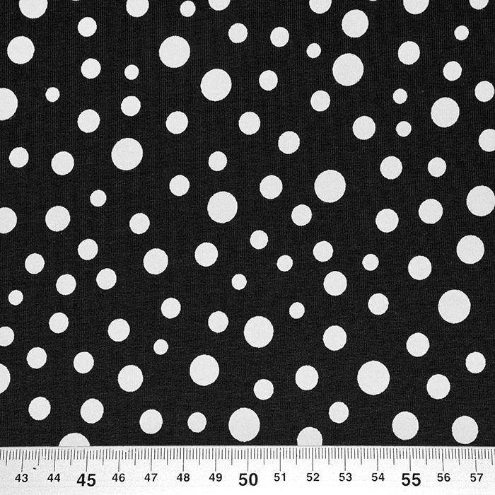 Jersey, bombaž, pike, 23508-1, črna