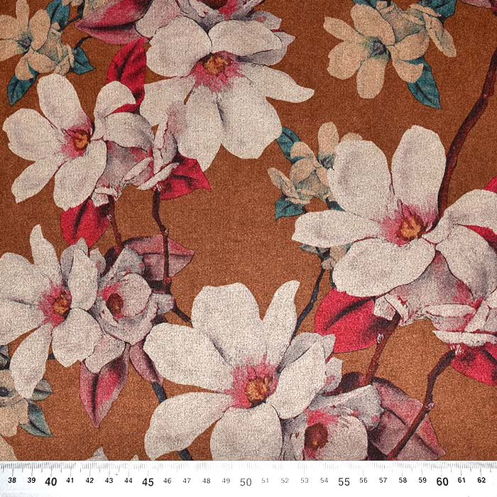 Scuba, brušeno pletivo, cvetlični, 23520-098