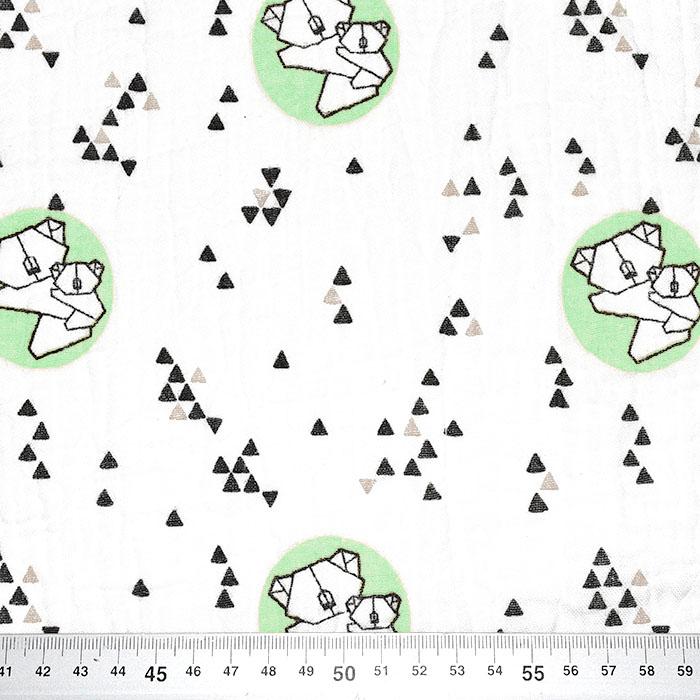 Tetra tkanina, dvojna, živalski, 23585-10, mint
