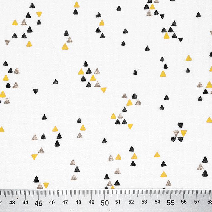 Tetra tkanina, dvojna, geometrijski, 23589-08, rumena