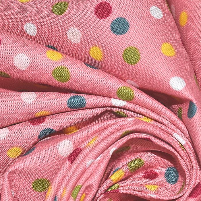 Pamuk, popelin, točkice, 23318-041, ružičasta