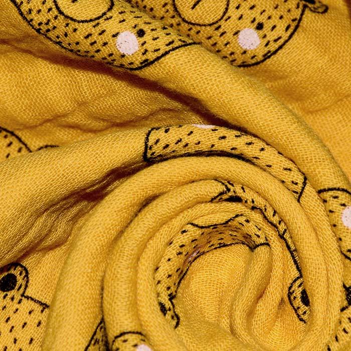 Tetra tkanina, dvojna, živalski, 23546-003, oker