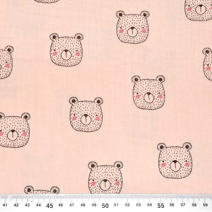 Tetra tkanina, dvostruka, životinjski, 23546-010, marelica