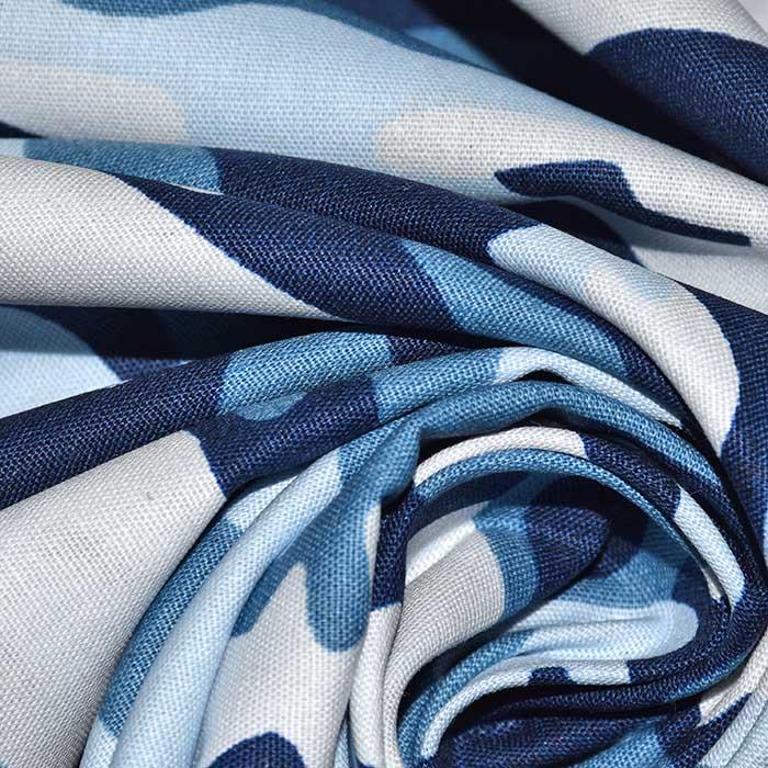Pamuk, popelin, kamuflažni, 23448-002, plava