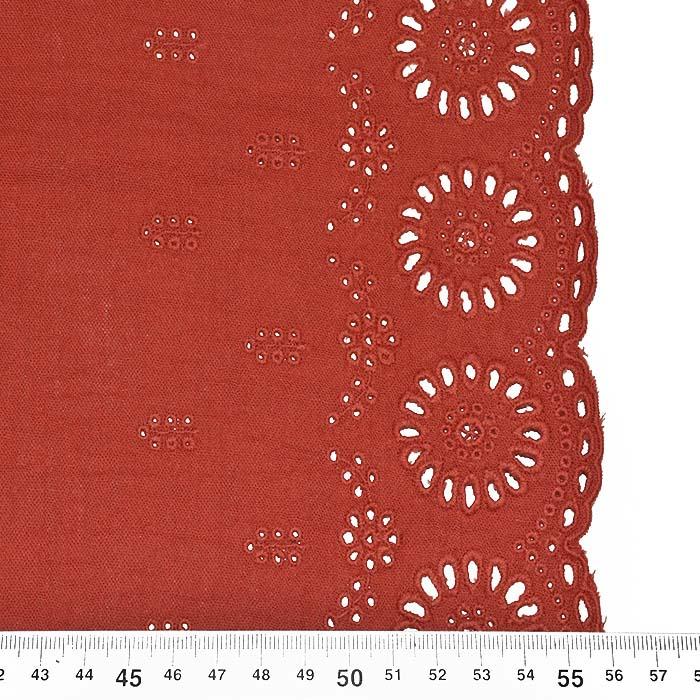 Tetra tkanina, dvojna, ornamentni, 23644-003, opečna
