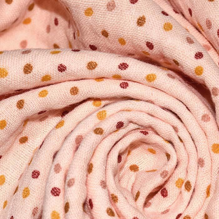 Tetra tkanina, dvostruka, točkice, 23645-012, marelica