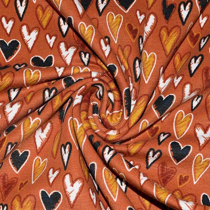 Jersey, pamuk, srca, 23655-13, boja opeke