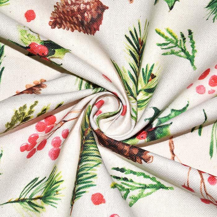 Reciklirana deko tkanina, blagdanski, 23673-3
