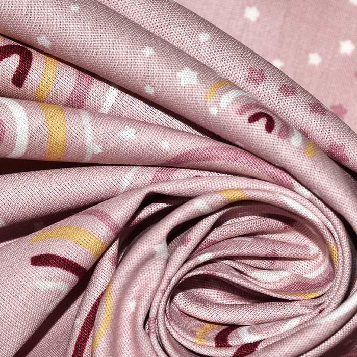 Bombaž, poplin, tisk, 11421-013, roza