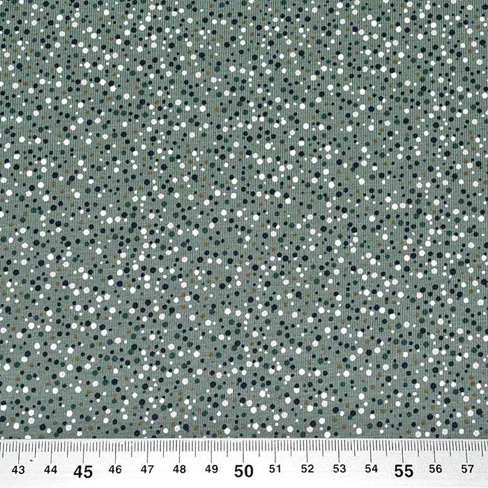 Jersey, pamuk, točkice, 11425-023, zelena